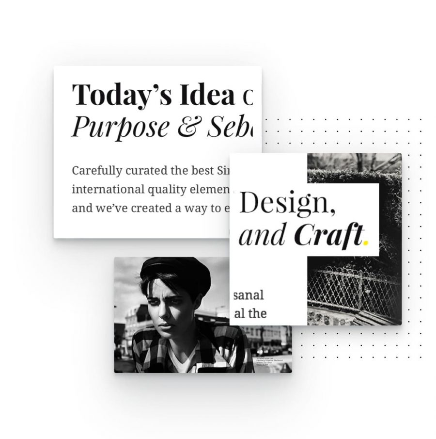 unique typography elements for this lifestyle blog WordPress theme