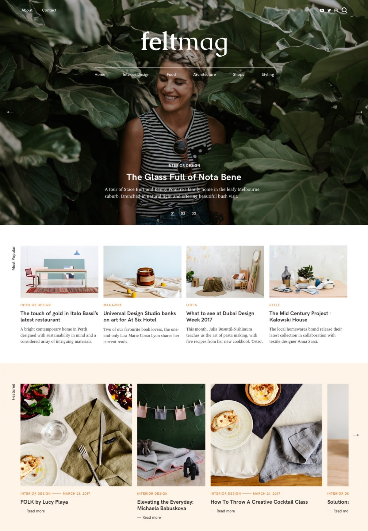 Felt Magazine Style Wordpress Theme By Pixelgrade